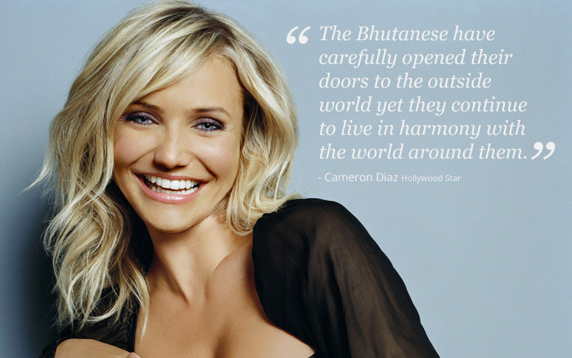 Cameron Diaz in Bhutan