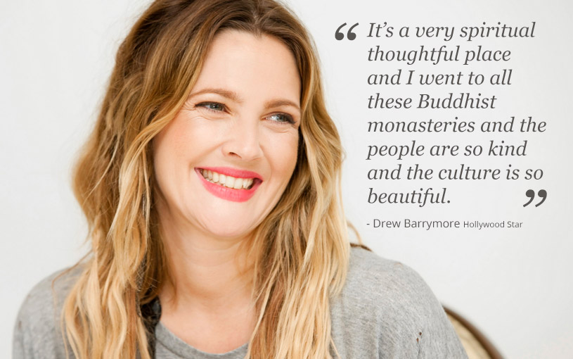 Drew Barrymore in Bhutan