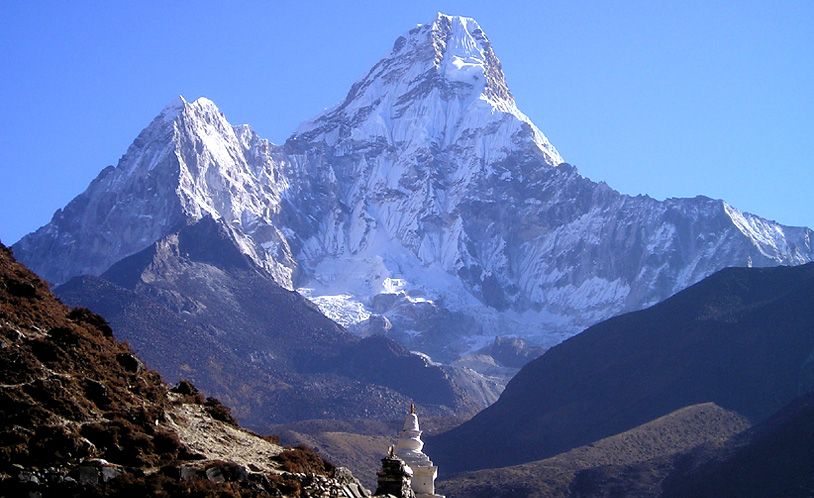 fabled land of towering mountain in Nepal