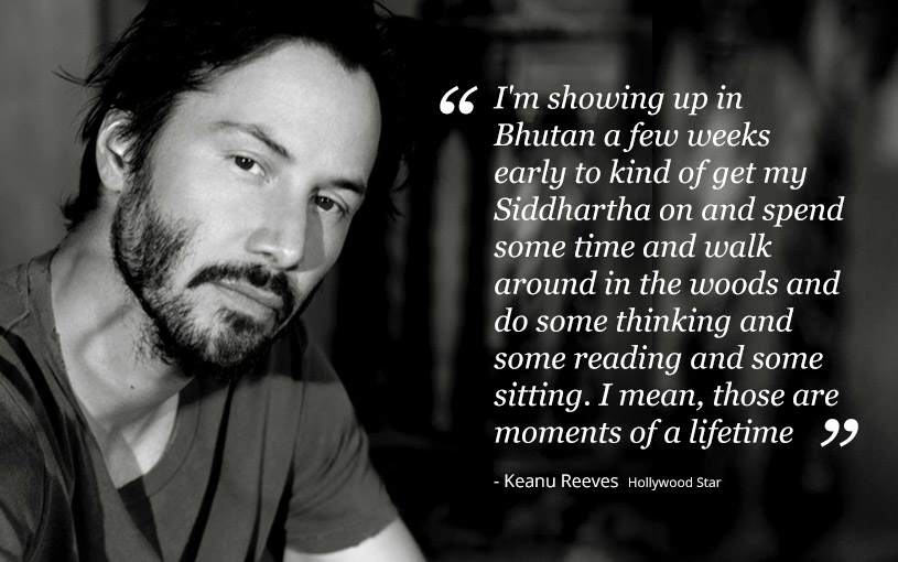 Keanu Reeves  in Bhutan