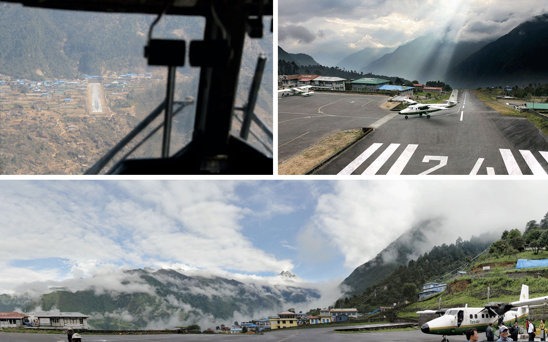 Lukla Airport (Tenzing–Hillary Airport), built in 1964 considered among one of the dangerous airports in the world but I never felt that dangerous in my early days. A program titled The Most Extreme Airports, broadcast on the history channel in 2010, rated the most dangerous airports in the world for over 20 years. A gateway to Everest where most people start Everest Base Camp Trek. There regular flights To/From Kathmandu.